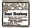 Death Notice from Aufbau, December 1945